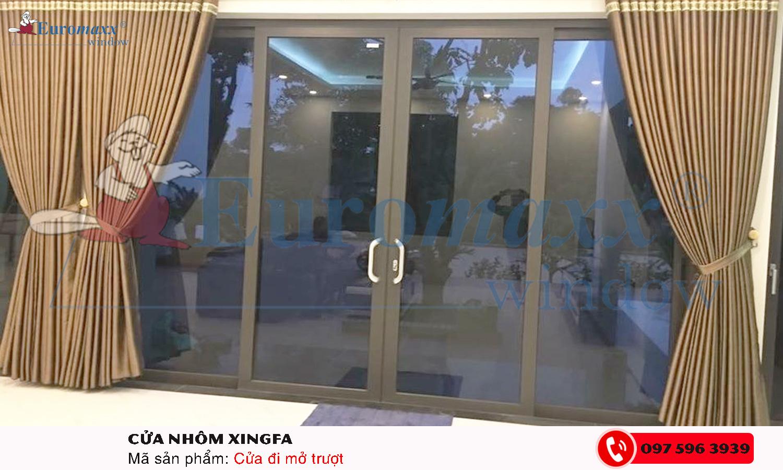 Cửa mở trượt hệ 93 nhôm Xingfa